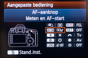 Han Balk Back Button Focus Canon EOS 5D Mark III Menu