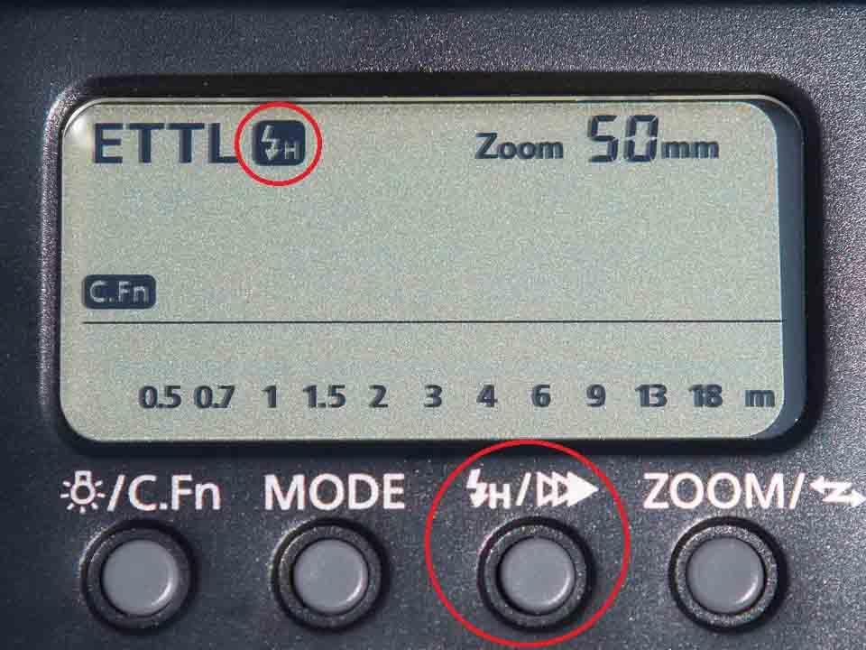 Canon EX 580 II HSS mode