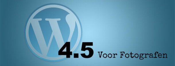 WordPress 4.5 Update voor fotografen