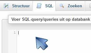 phpMyAdmin SQL instructies