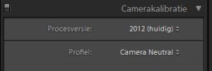 Lightroom Camera Calibratie