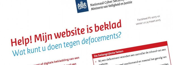 Help! Mijn website is beklad